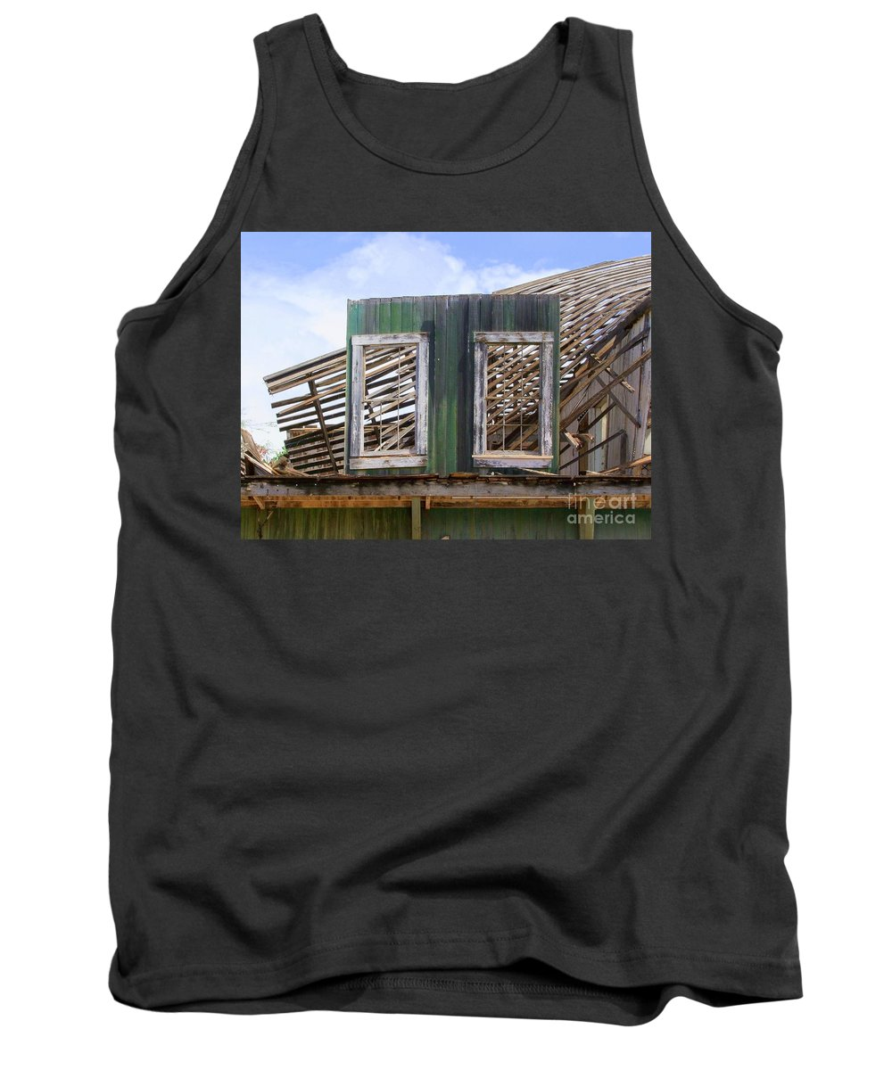 Windows Tank Top featuring the photograph The Two Left Standing by Mary Deal