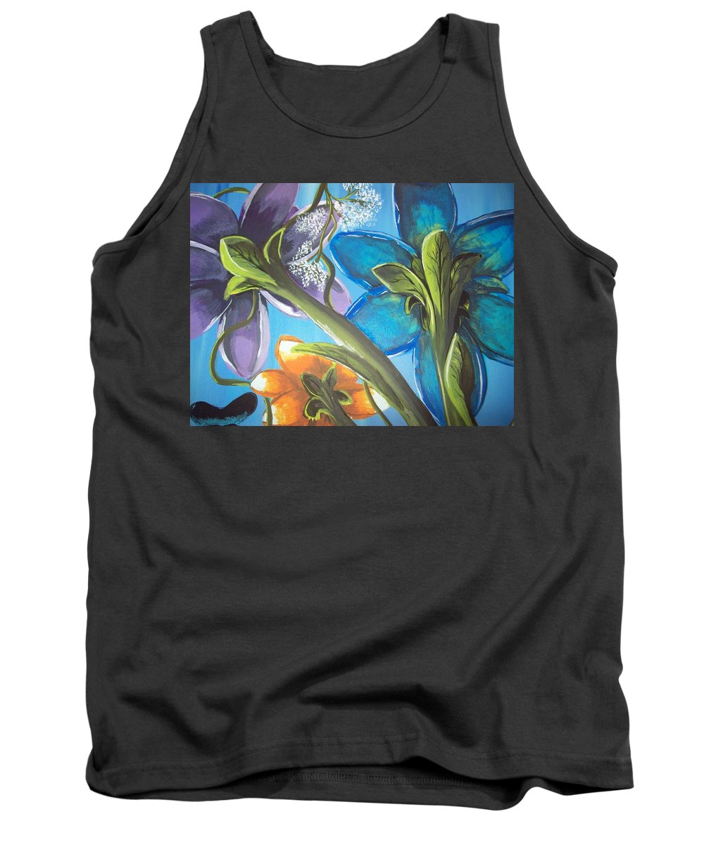 Acrylic Painting Tank Top featuring the painting The View From Below by Gerard Provost
