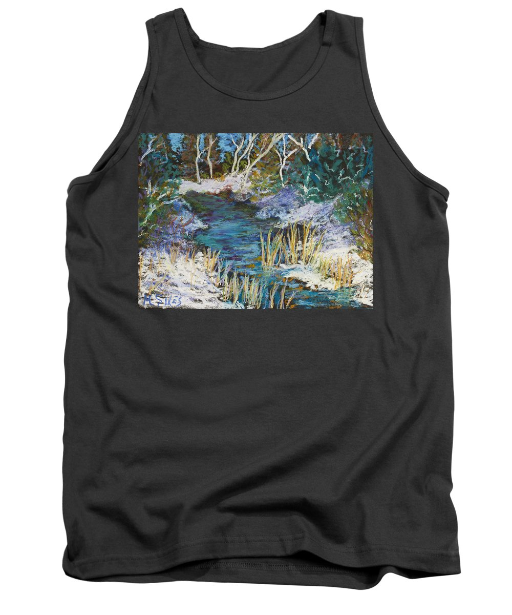 Door County Tank Top featuring the painting The View From County Hwy Q by Madonna Siles