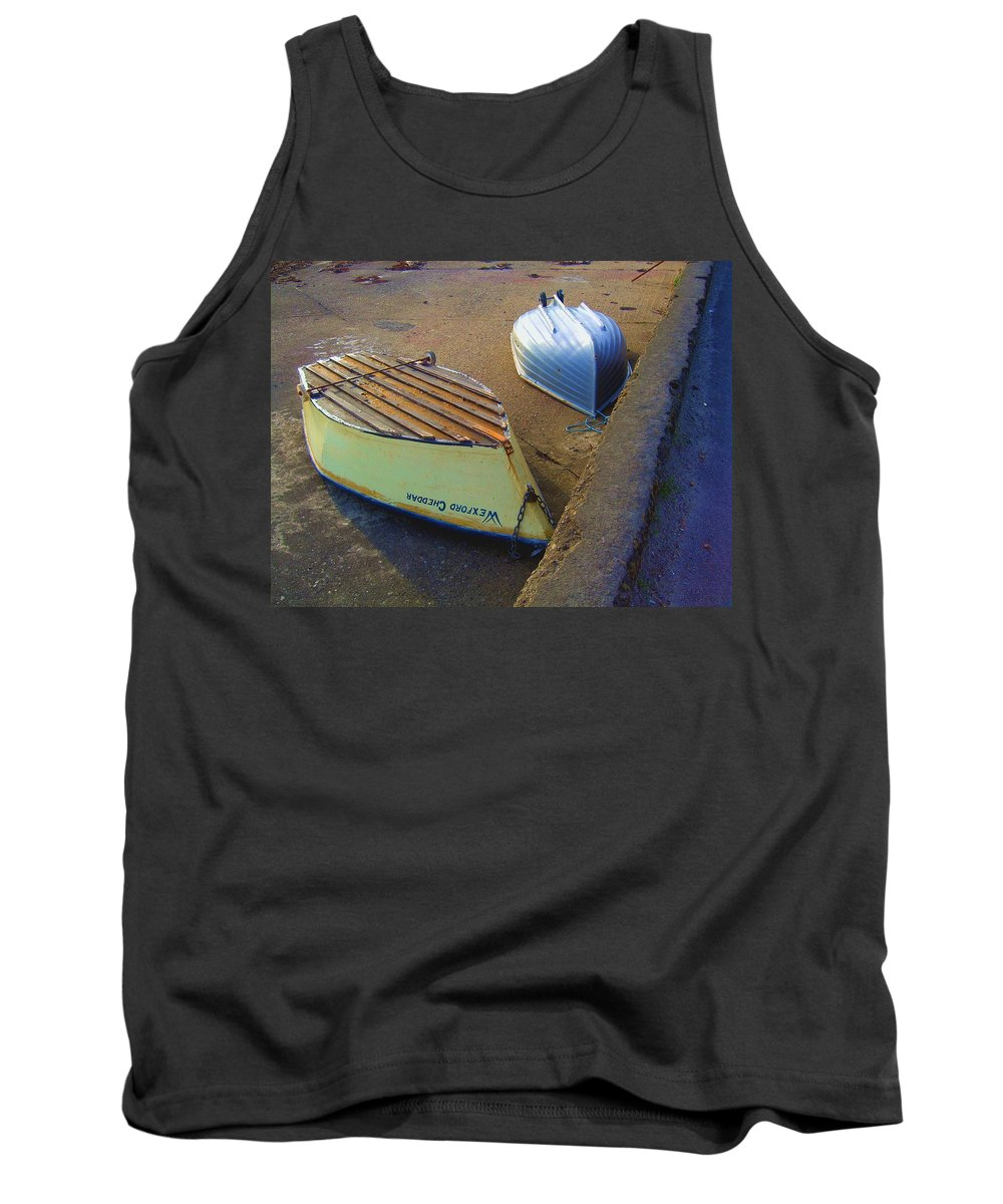Ocean Sea Green Building Coast Water Sea Blue Vertical West Surf Vista View Ireland Port Harbor Wexford Cheddar Boat Village Image Photo Photograph Shot Picture Anchor Docked Dock Tank Top featuring the photograph The Wexford Cheddar by Scott Carda