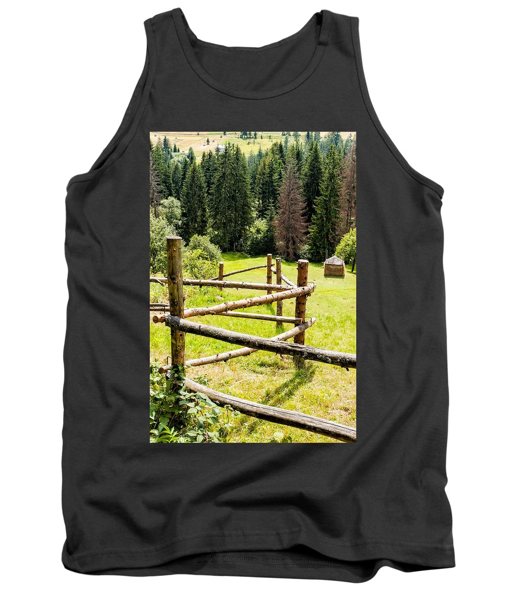 Carpathian Tank Top featuring the photograph The Zig-zag Fence by Alain De Maximy