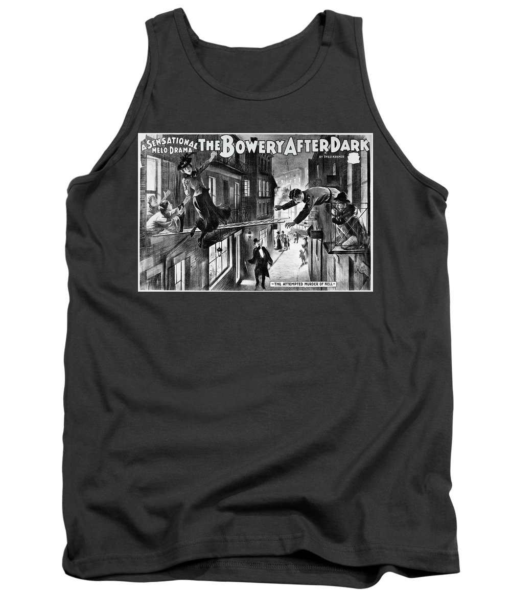 1899 Tank Top featuring the painting Theater Melodrama, C1899 by Granger
