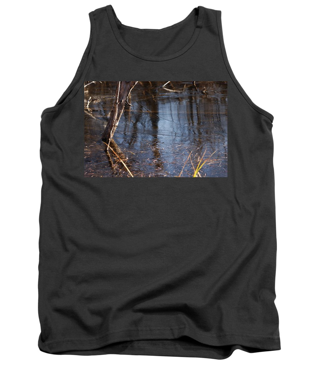 Ice Tank Top featuring the photograph Thin Ice Of A New Day by Susan Capuano