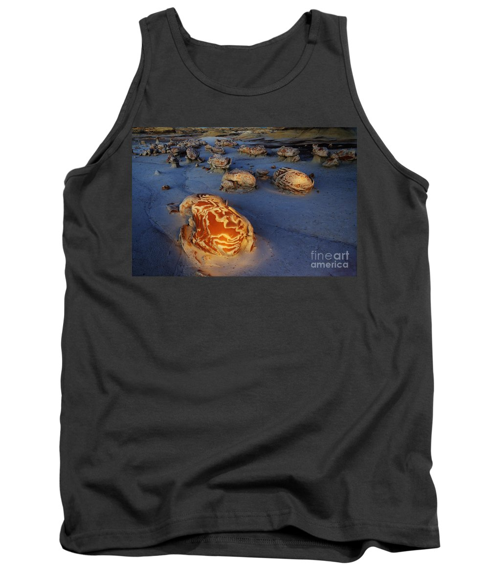 Hoodoo Tank Top featuring the photograph The Egg Factory Bisti/de-na-zin Wilderness At Night by Bob Christopher