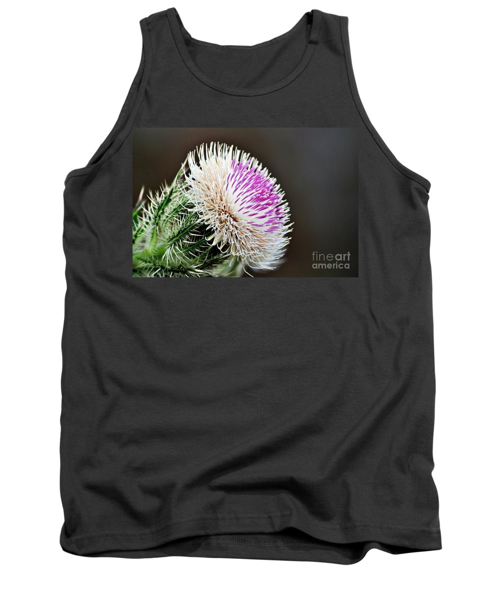 Thistle Tank Top featuring the photograph Thistle Bloom by Davids Digits