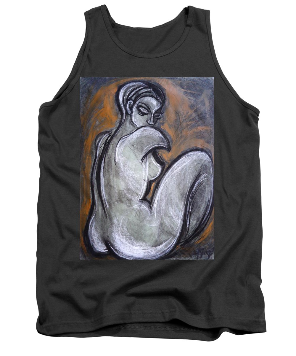 Original Tank Top featuring the painting Three Beauties - Graceful - Nudes Gallery by Carmen Tyrrell