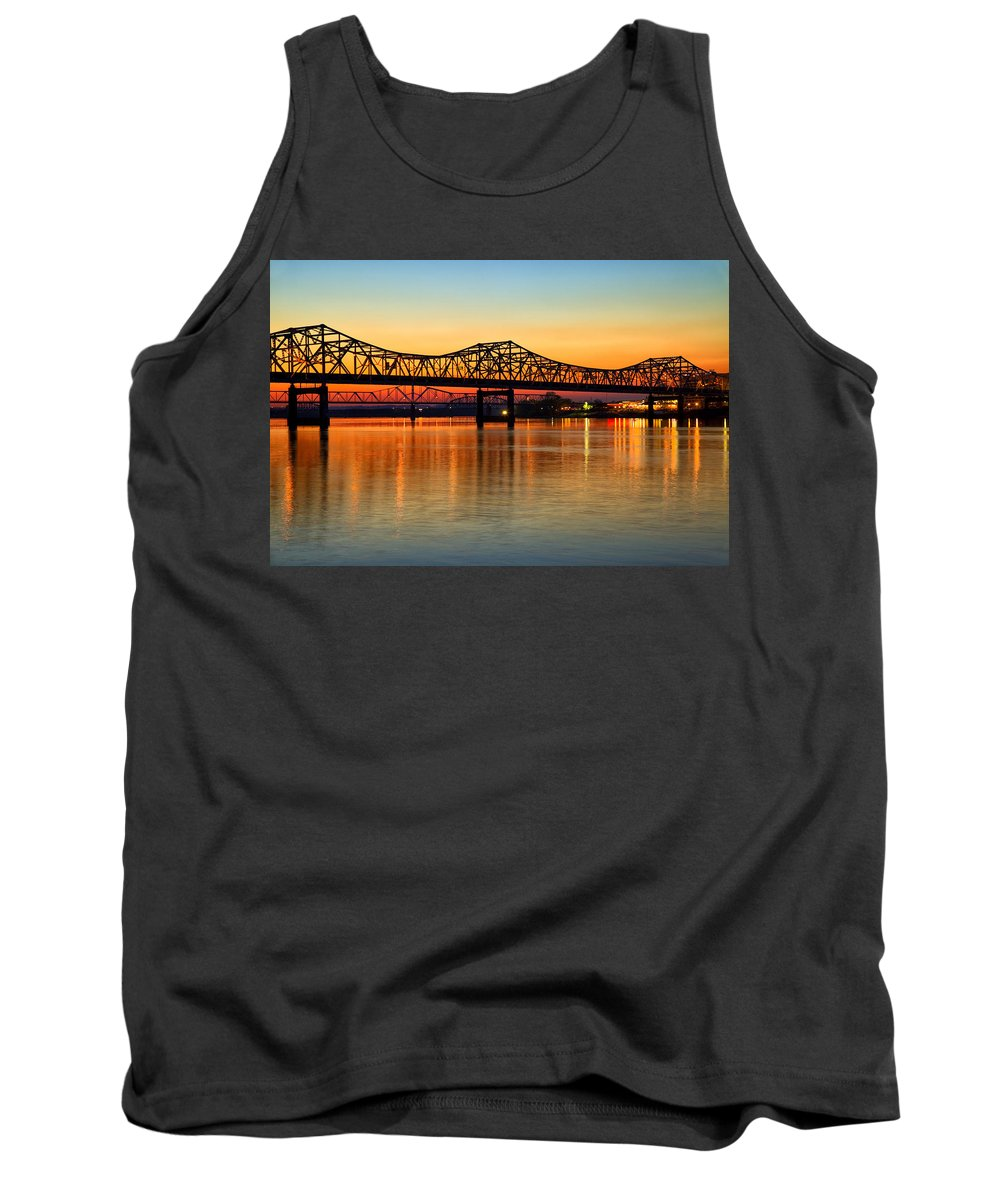 Bridge Tank Top featuring the photograph Three Bridge Sunset by Diana Powell