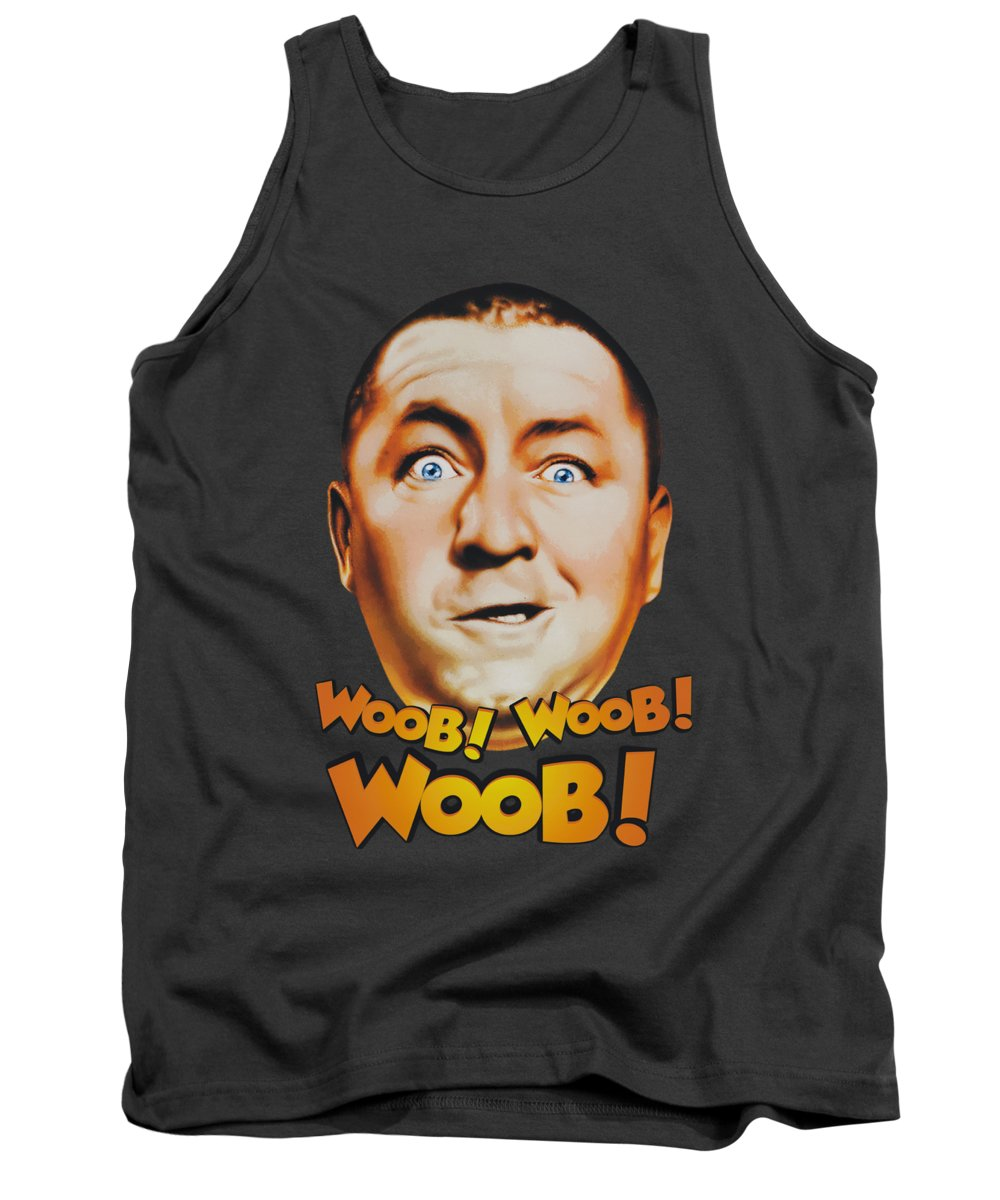 The Three Stooges Tank Top featuring the digital art Three Stooges - Woob Woob Woob by Brand A
