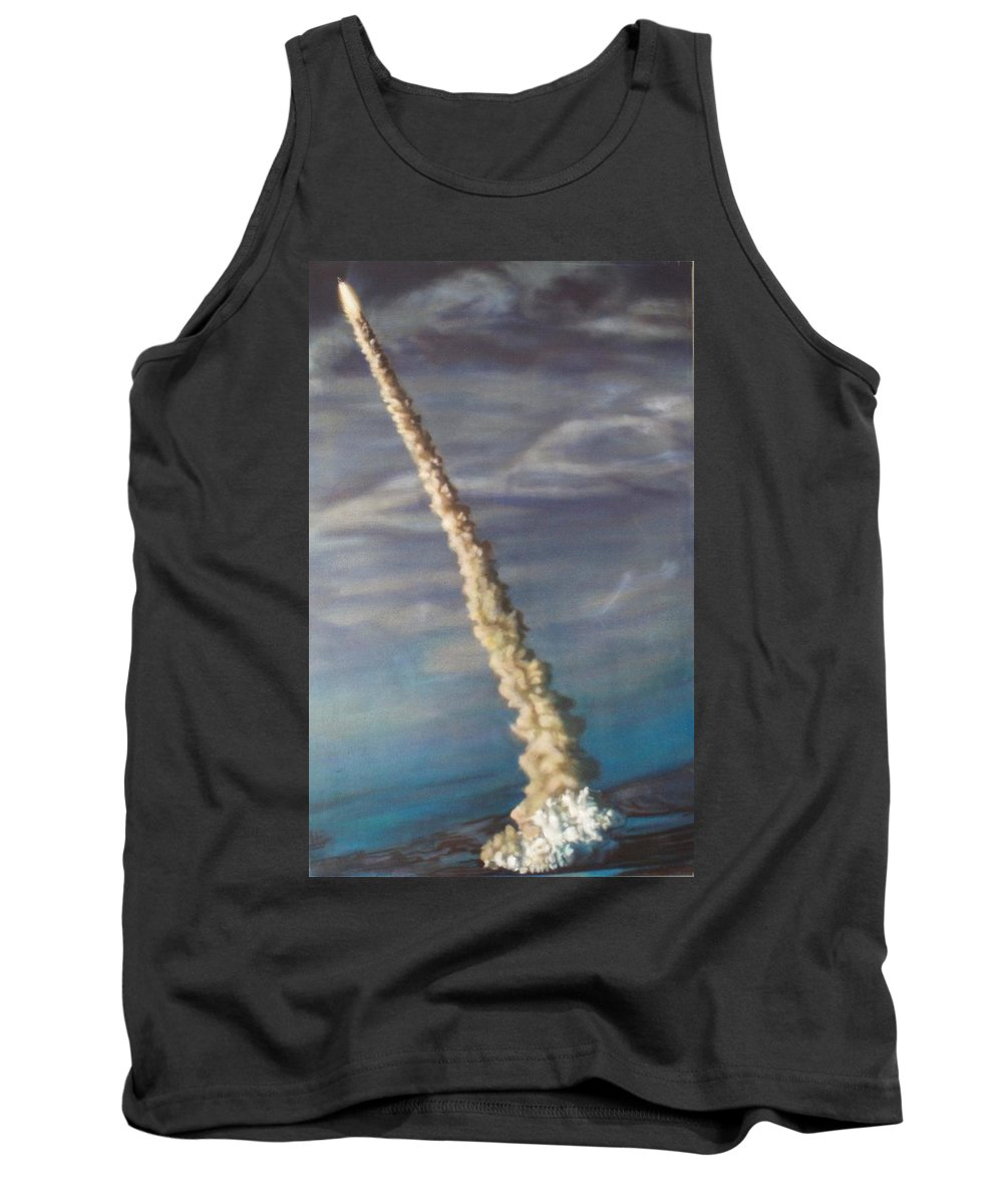 Rocket Tank Top featuring the painting Throttle Up by Sean Connolly