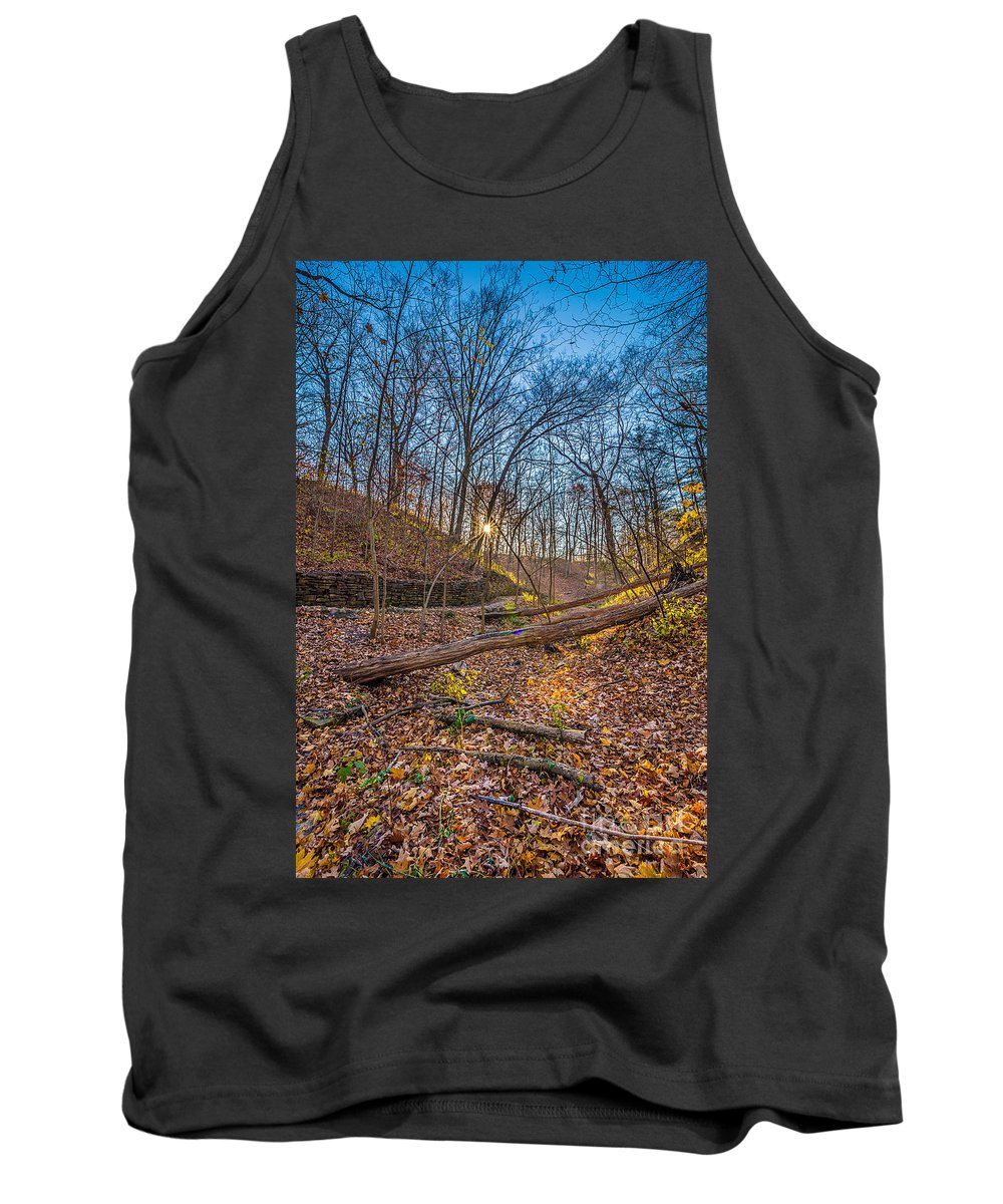 Autumn Tank Top featuring the photograph Thru The Woods by Andrew Slater