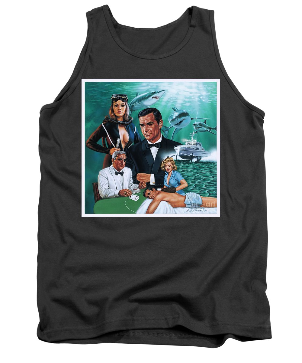 Portrait Tank Top featuring the painting Thunderball by Dick Bobnick