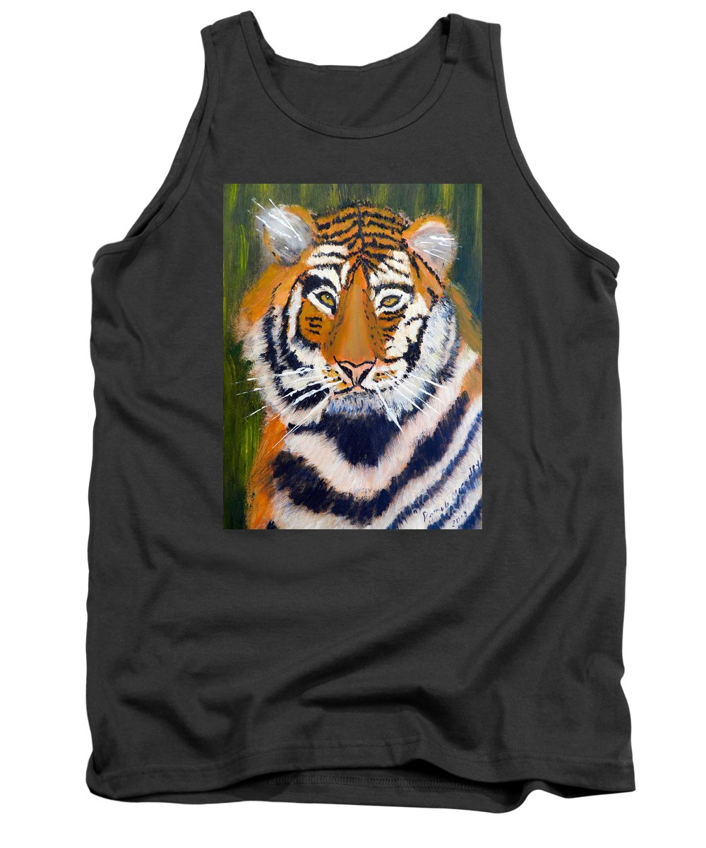 Impressionism Tank Top featuring the painting Tiger by Pamela Meredith