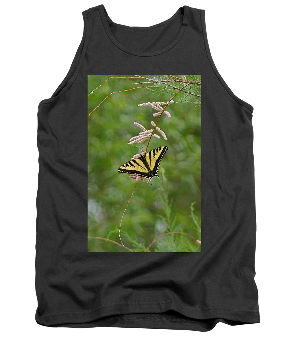 Bugs Tank Top featuring the digital art Tiger Swallowtail by Ernie Echols