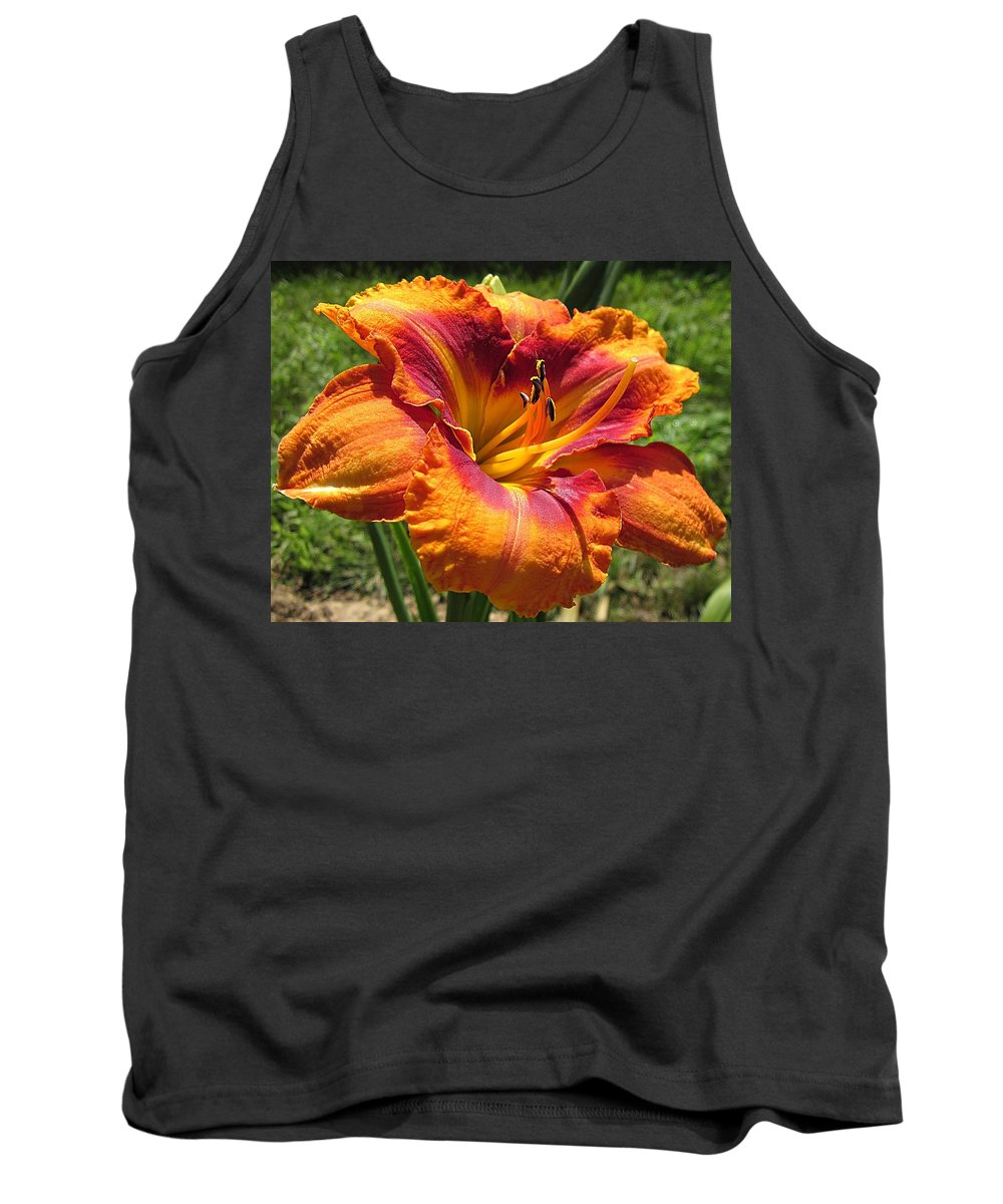 Tigger Daylily Tank Top featuring the photograph Tigger Daylily by MTBobbins Photography