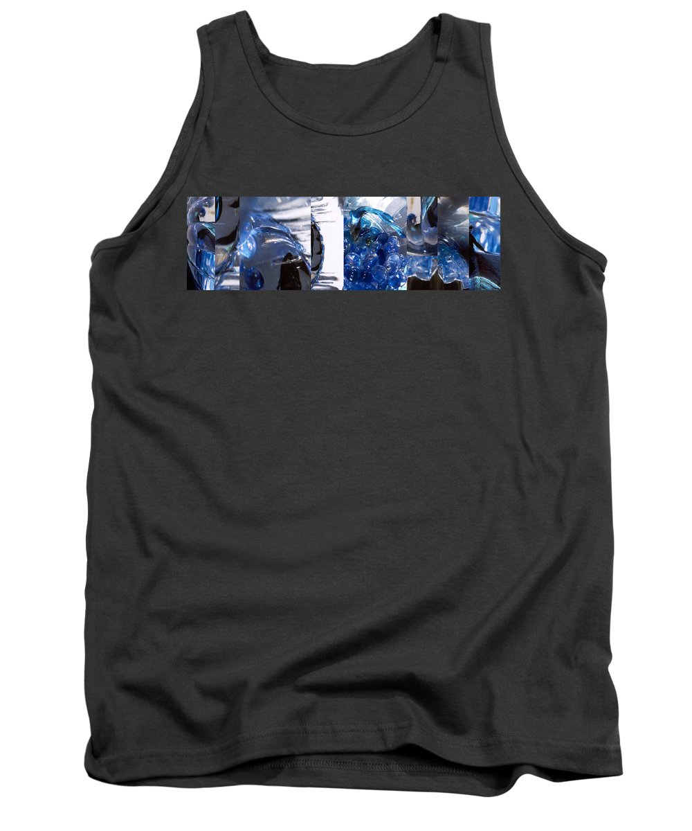 Abstract Tank Top featuring the photograph Time Line in Blue by Steve Karol