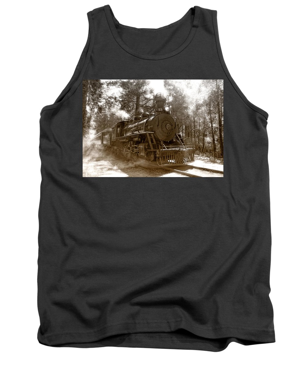Locomotive Tank Top featuring the photograph Time Traveler by Donna Blackhall