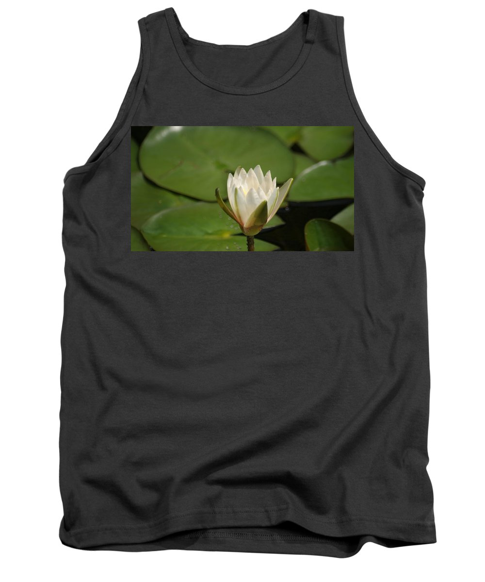 Tall Tank Top featuring the photograph Tiny White by Rob Luzier