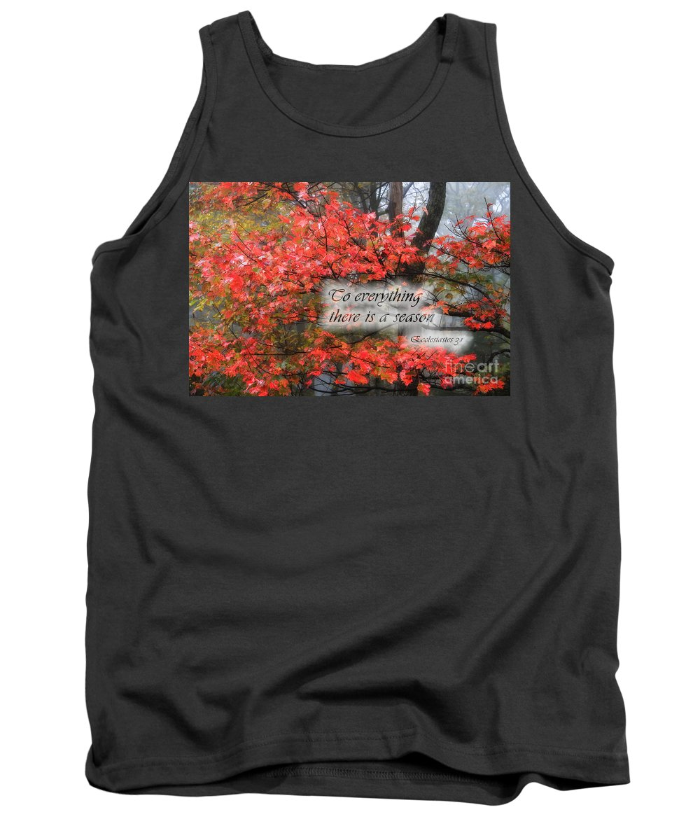 Fall Tank Top featuring the photograph To Everything There Is A Season by Jill Lang
