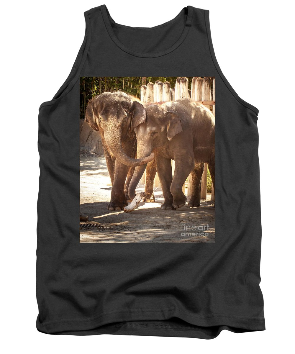 Animal Tank Top featuring the photograph Tons Of Fun by Robert Frederick