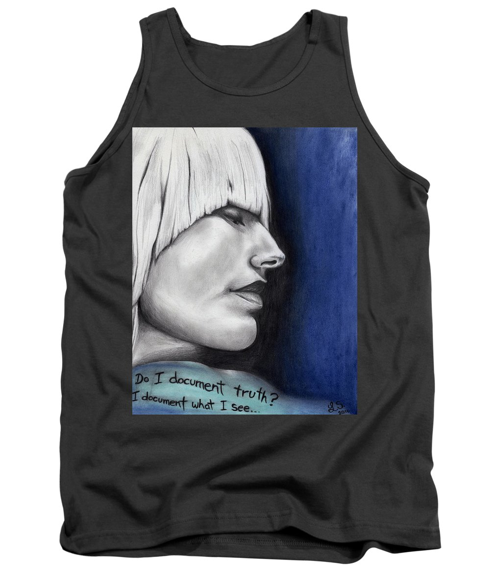 Tori Amos Tank Top featuring the drawing Tori Amos As Isabel by Leia Sopicki