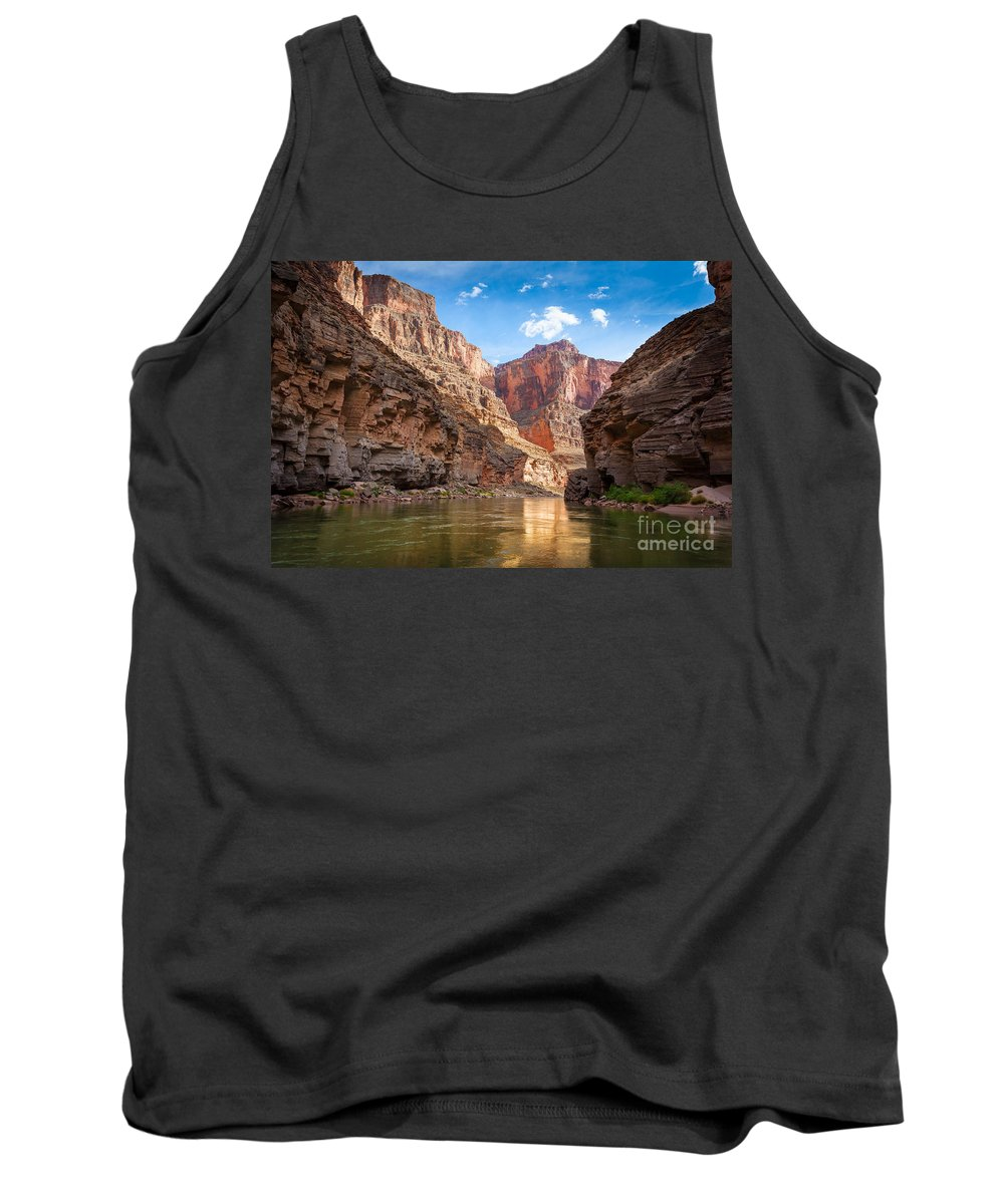 America Tank Top featuring the photograph Towering Walls by Inge Johnsson