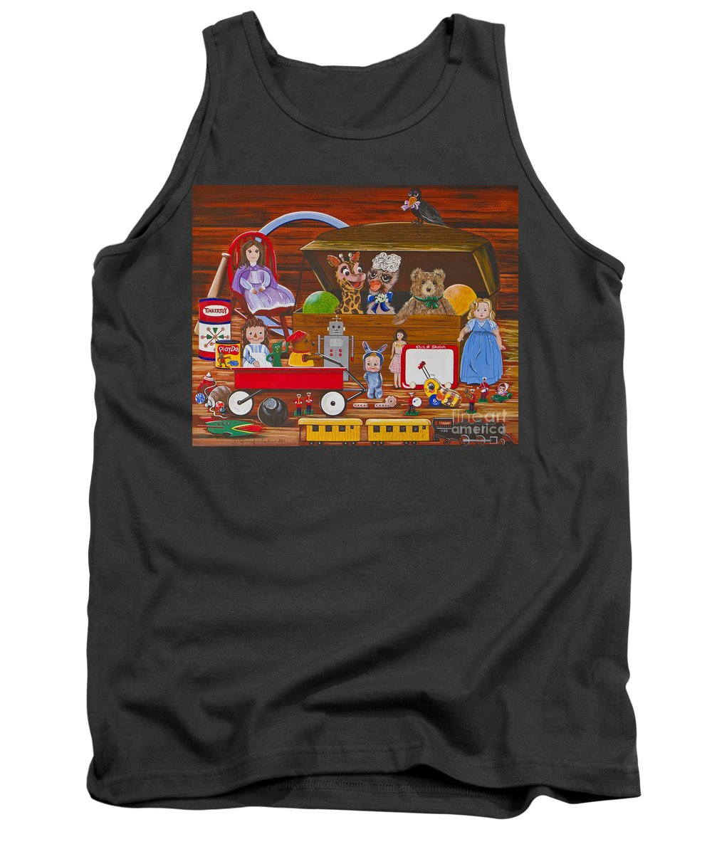 Toys Tank Top featuring the painting Toys In The Attic by Jennifer Lake