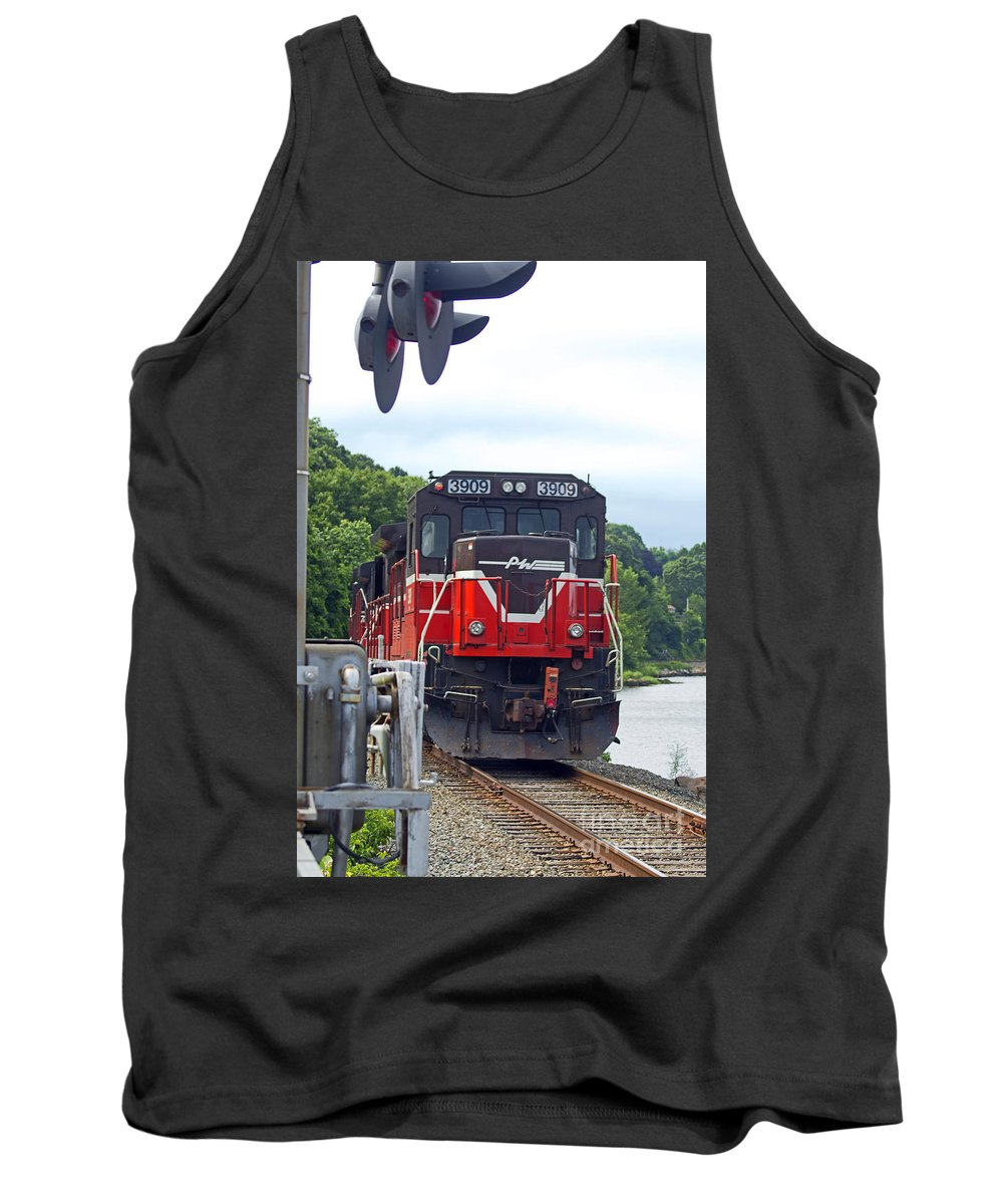 Railroad Tank Top featuring the photograph Track Star by Joe Geraci
