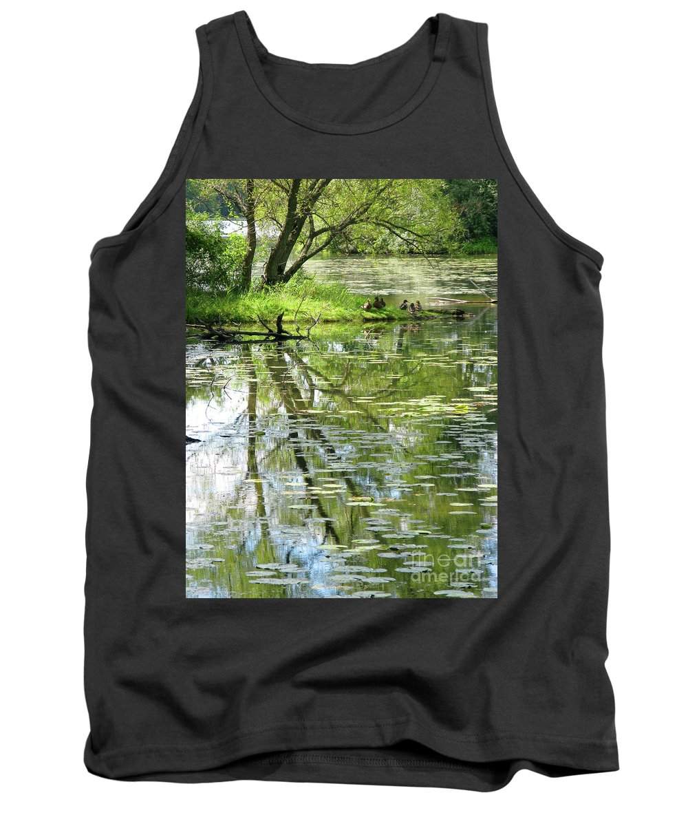 Reflection Tank Top featuring the photograph Tranquility by Ann Horn