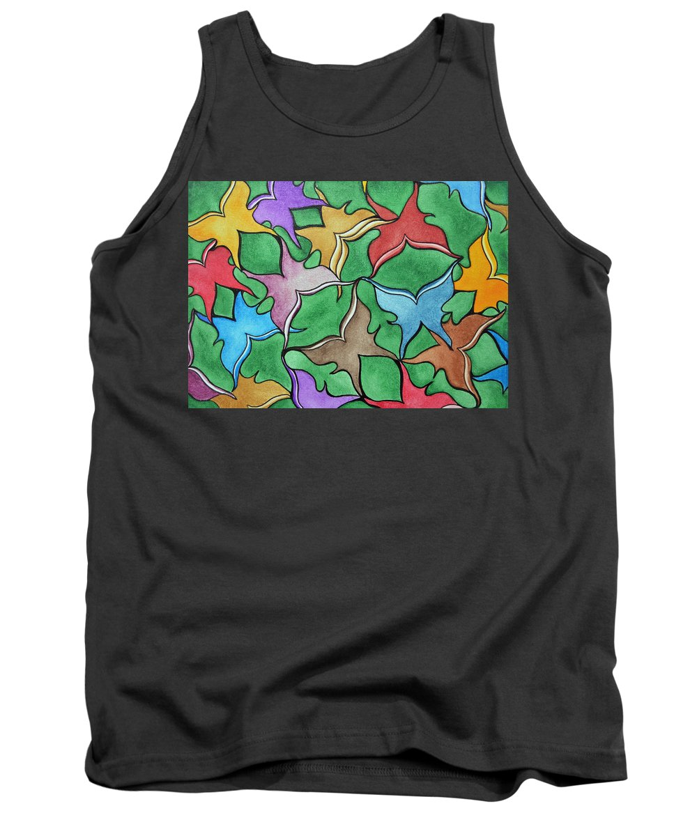Butterflies Tank Top featuring the painting Transformation by Wendy Anderson