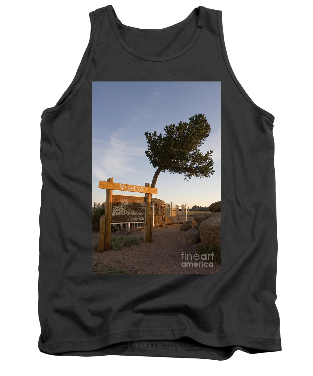 Wyoming Tank Top featuring the photograph Tree Rock Wyoming by Jason O Watson