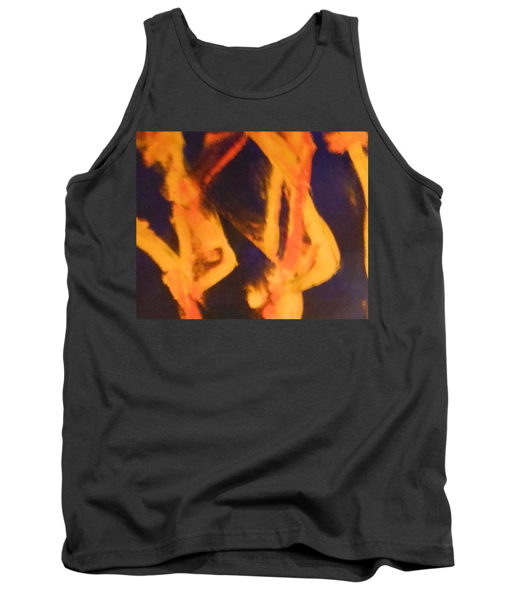 Abstract Tank Top featuring the painting Trees by Lord Frederick Lyle Morris