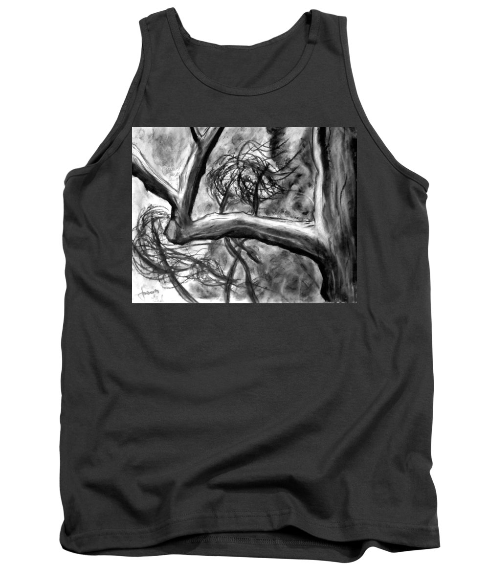Trees Tank Top featuring the painting Trees In The Wind by Jason Gluskin