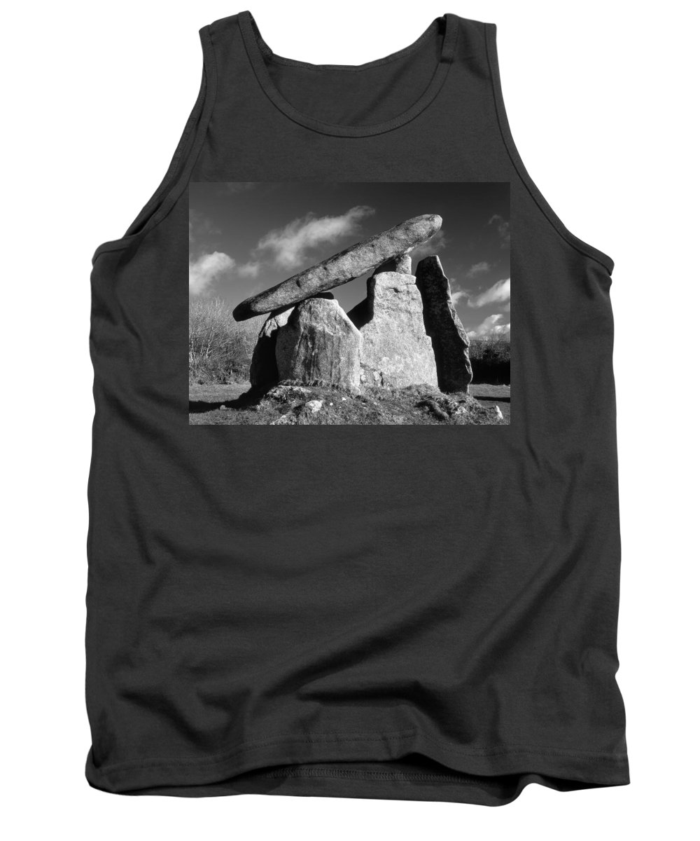 Landscape Tank Top featuring the photograph Trevethy Quoit by Darren Galpin
