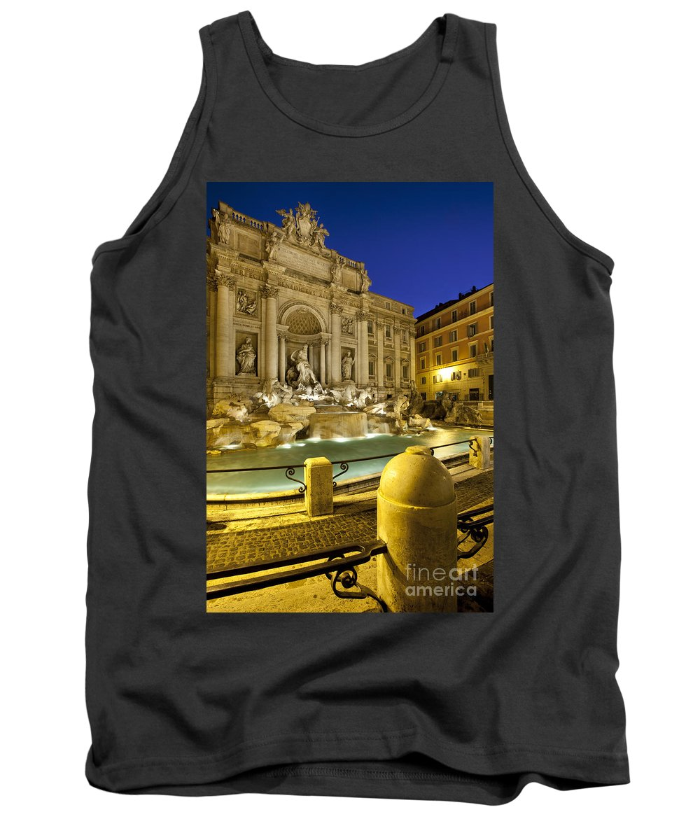 Trevi Fountain Tank Top featuring the photograph Trevi Fountain by Brian Jannsen