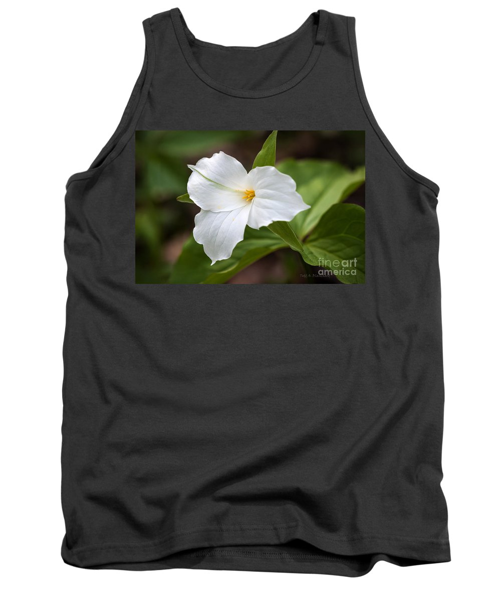 Flower Tank Top featuring the photograph Trillium by Todd Blanchard
