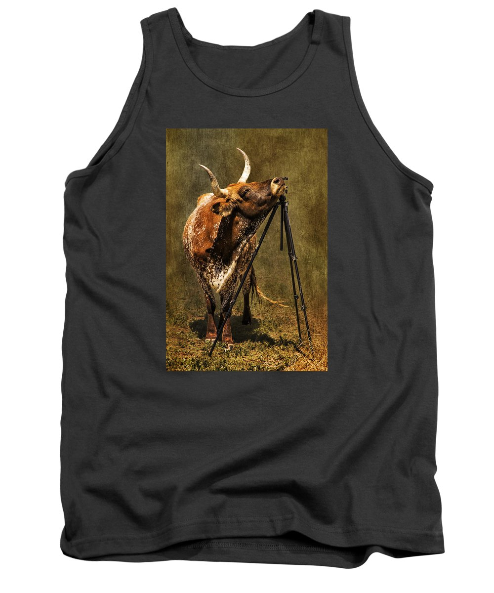 Longhorn Tank Top featuring the photograph Tripods Are Our Friends by Priscilla Burgers
