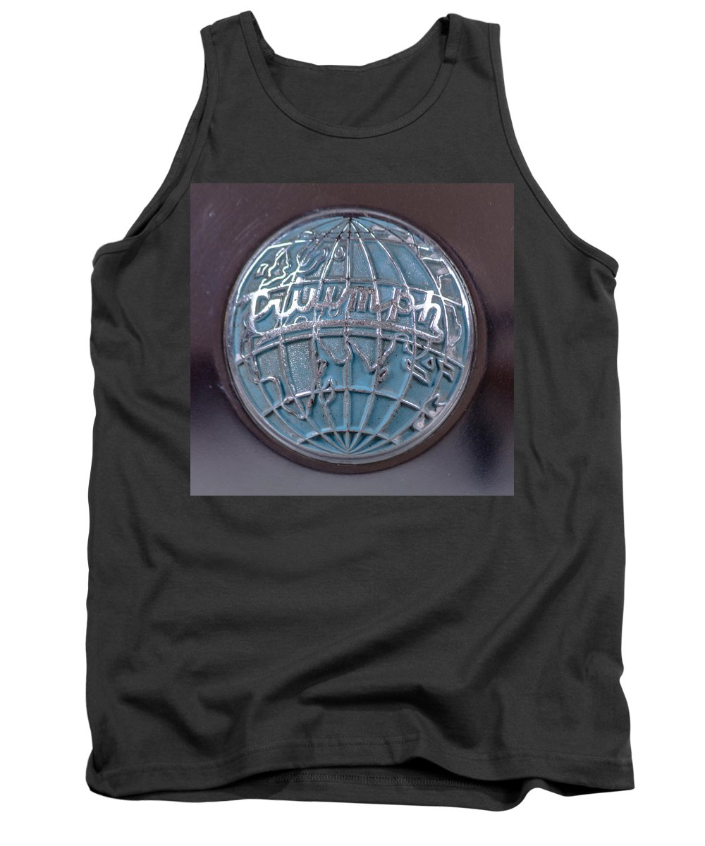 Tr3 Emblem Tank Top featuring the photograph Triumph Center Cap by Thomas Sellberg