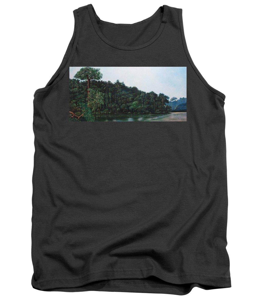 Landscape. Tank Top featuring the painting Tuira by Ricardo Sanchez Beitia
