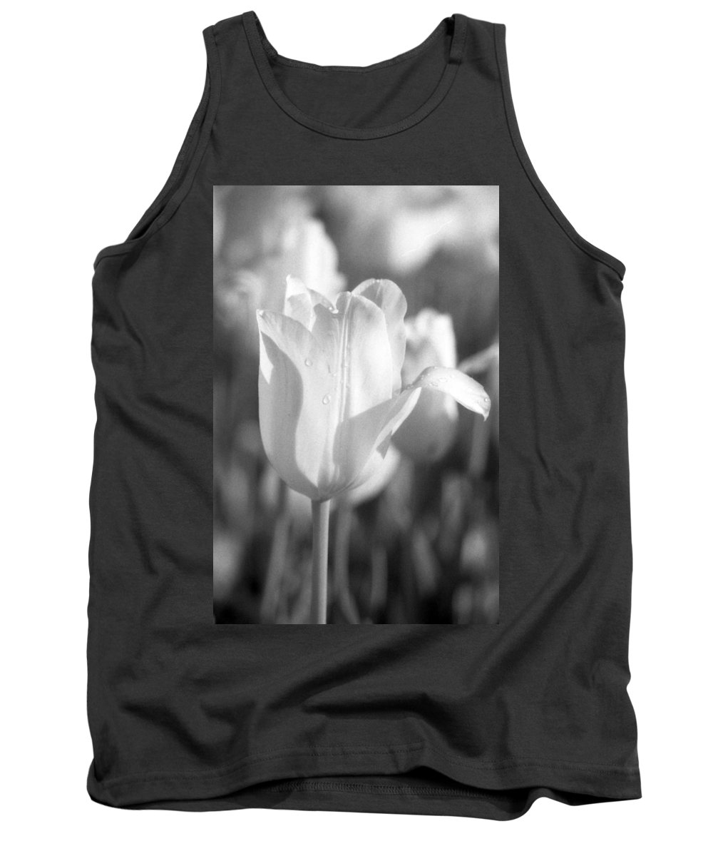 Tulip Tank Top featuring the photograph Tulips - Infrared 08 by Pamela Critchlow