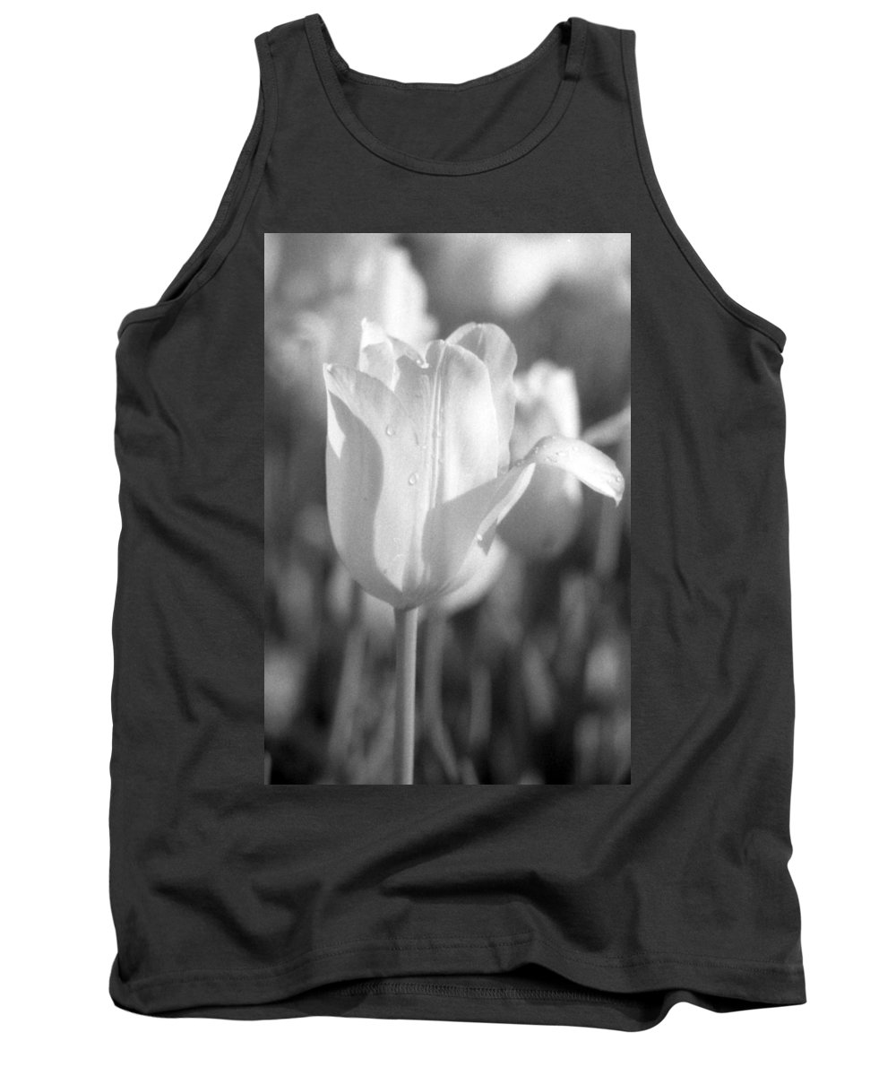 Tulip Tank Top featuring the photograph Tulips - Infrared 09 by Pamela Critchlow