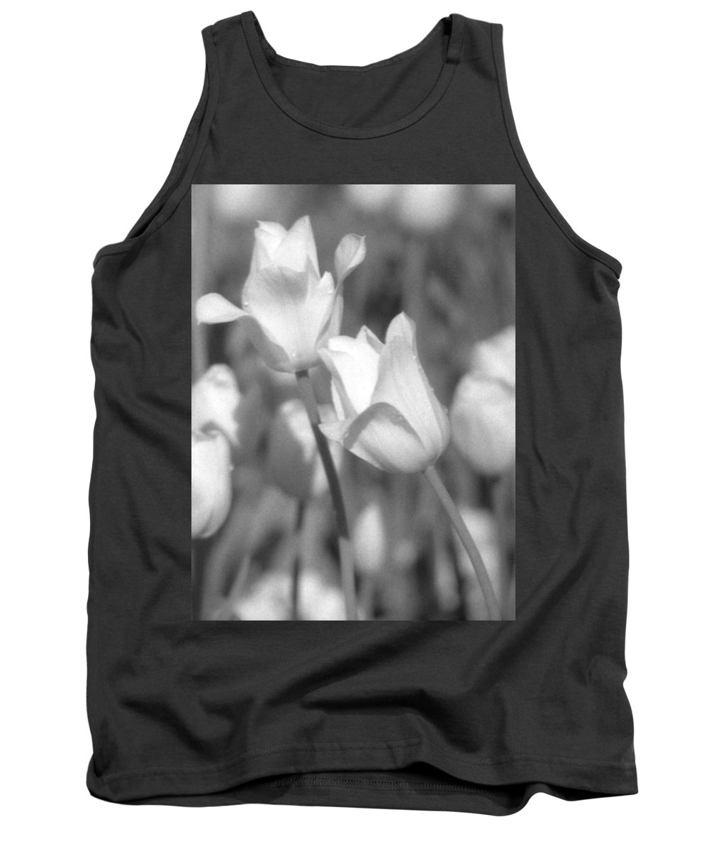 Tulip Tank Top featuring the photograph Tulips - Infrared 14 by Pamela Critchlow