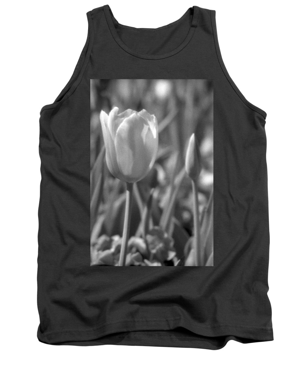 Tulip Tank Top featuring the photograph Tulips - Infrared 28 by Pamela Critchlow
