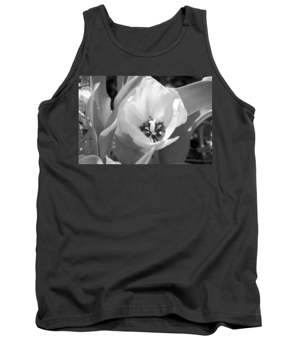 Tulip Tank Top featuring the photograph Tulips - Infrared 32 by Pamela Critchlow