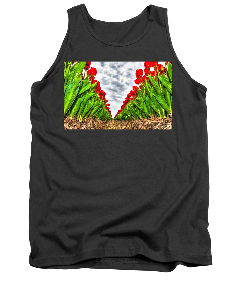 Yellow Tank Top featuring the photograph Tulips Part IIi by Alex Hiemstra