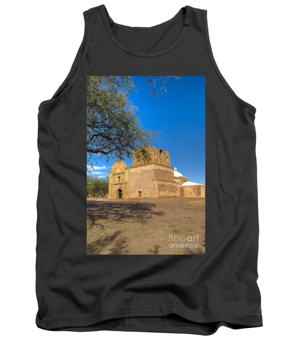 Mission Tank Top featuring the photograph Tumacacori 54 by Larry White