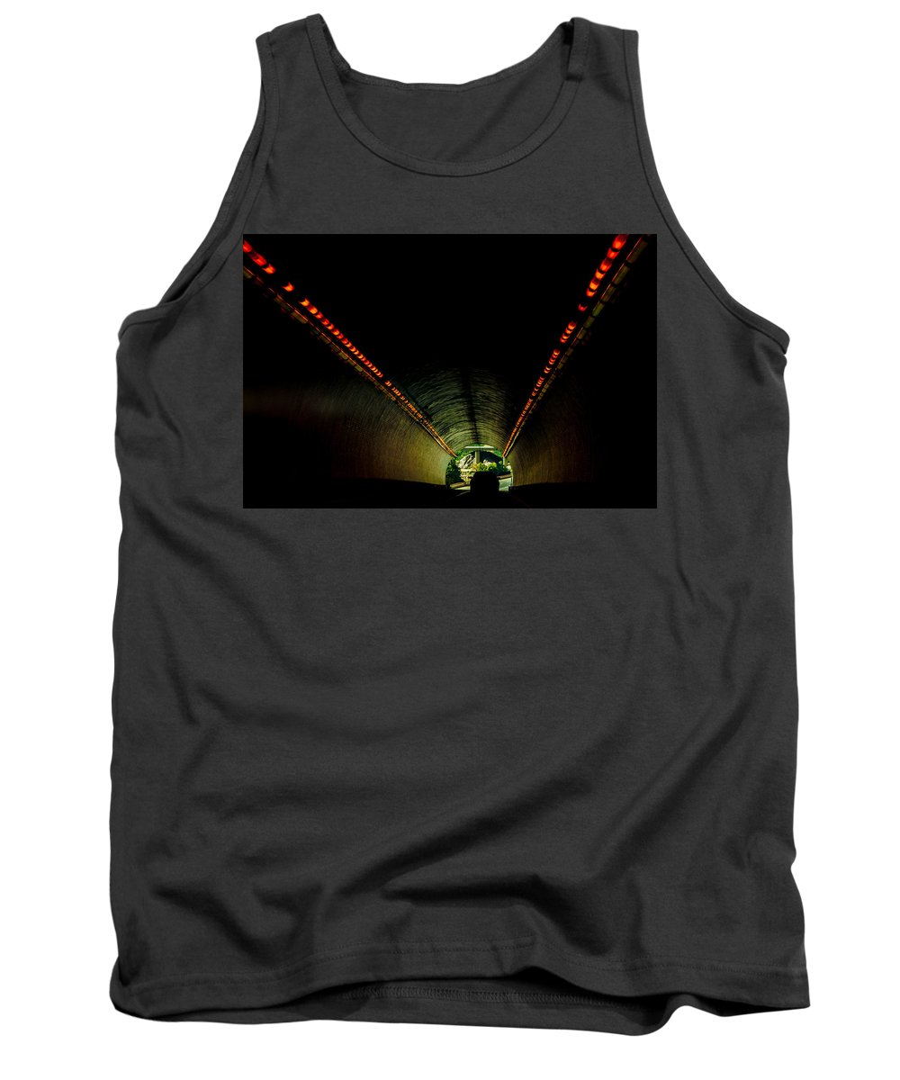 Lights Tank Top featuring the photograph Tunnel In Colorado by Amel Dizdarevic