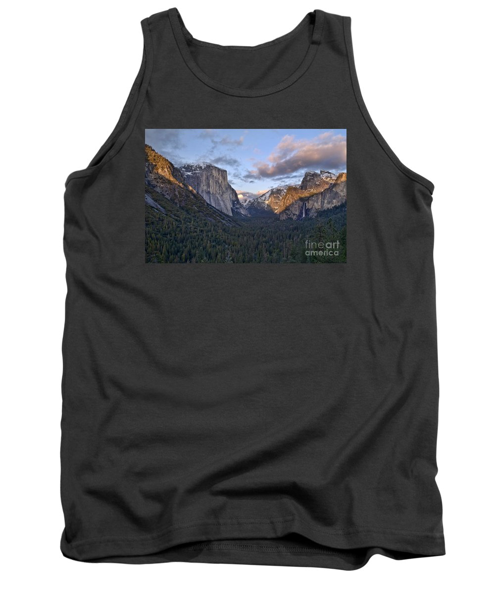 Landscape Tank Top featuring the photograph Tunnel View by Richard Verkuyl