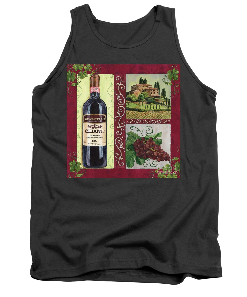 Wine Tank Top featuring the painting Tuscan Collage 1 by Debbie DeWitt