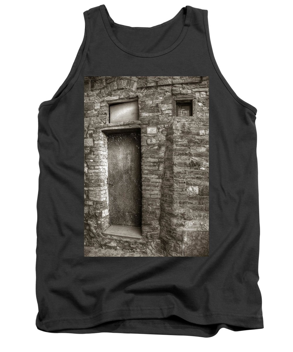 Tuscany Tank Top featuring the photograph Tuscan Doorway by Michael Kirk