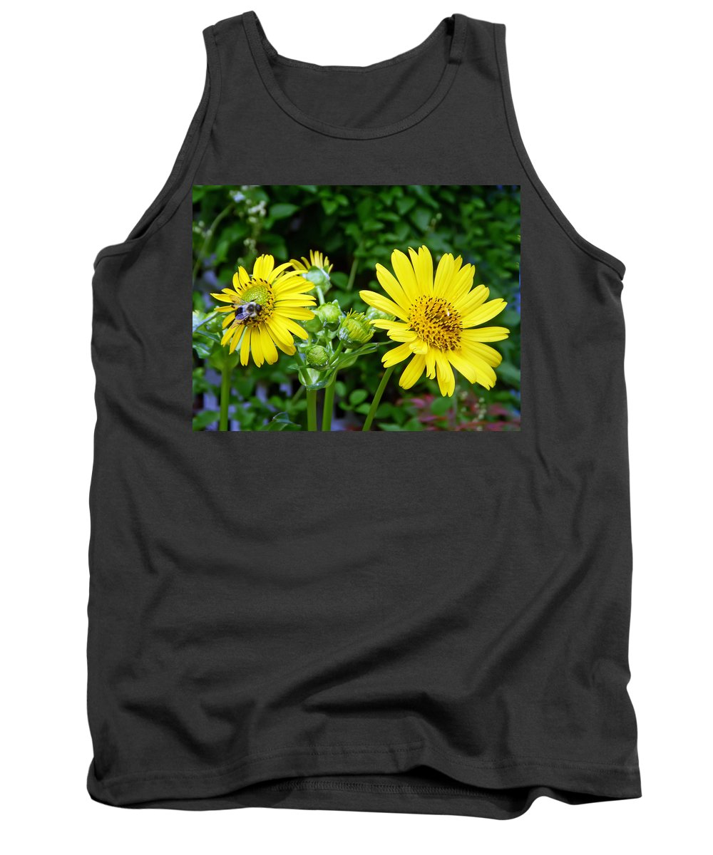 Flower Tank Top featuring the photograph Twin Daisies by Aimee L Maher ALM GALLERY